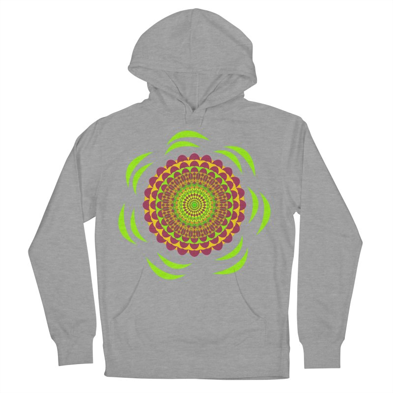 Psychedelic Flower Power Men's French Terry Pullover Hoody by jandeangelis's Artist Shop