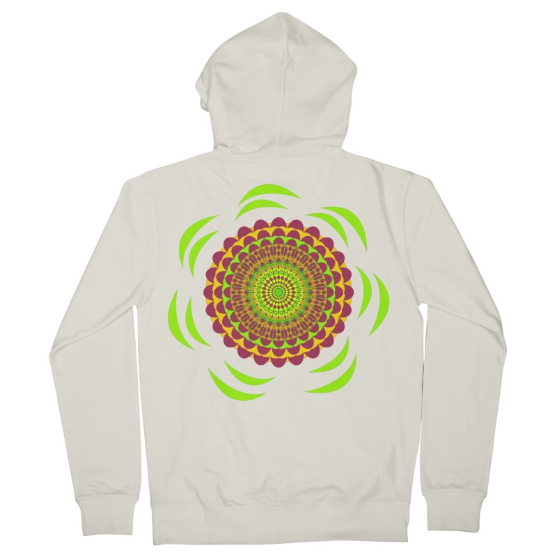 Psychedelic Flower Power Women's French Terry Zip-Up Hoody by jandeangelis's Artist Shop