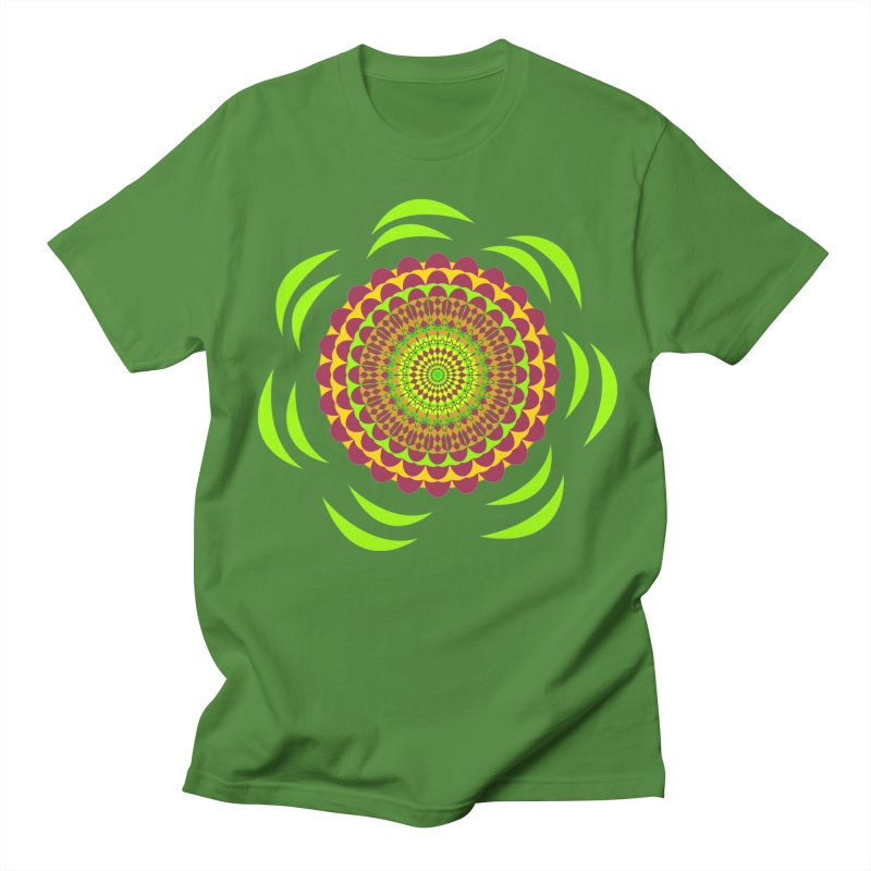 Psychedelic Flower Power Men's Regular T-Shirt by jandeangelis's Artist Shop