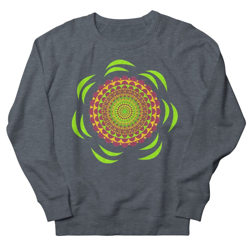 Psychedelic Flower Power Women's French Terry Sweatshirt by jandeangelis's Artist Shop