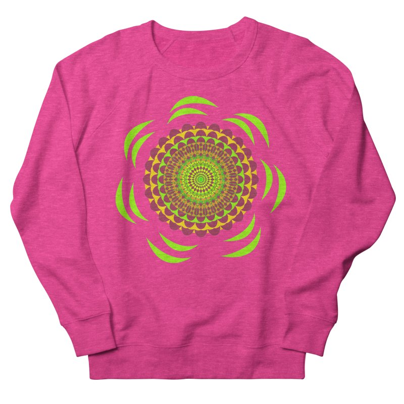 Psychedelic Flower Power Men's French Terry Sweatshirt by jandeangelis's Artist Shop