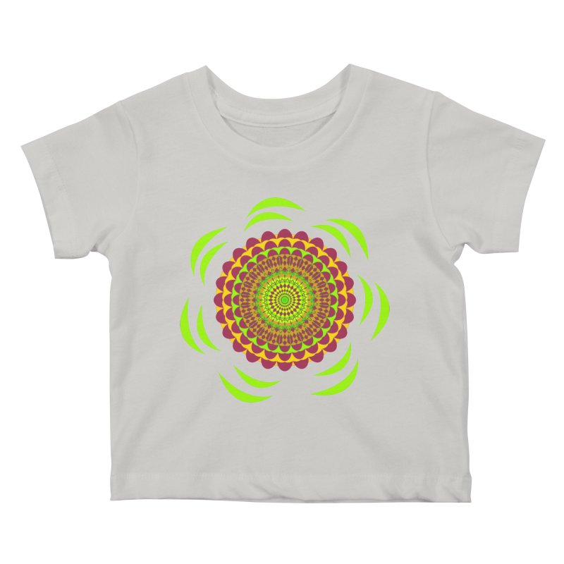 Psychedelic Flower Power Kids Baby T-Shirt by jandeangelis's Artist Shop