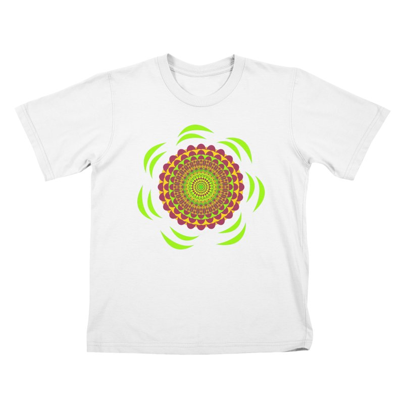 Psychedelic Flower Power Kids T-Shirt by jandeangelis's Artist Shop