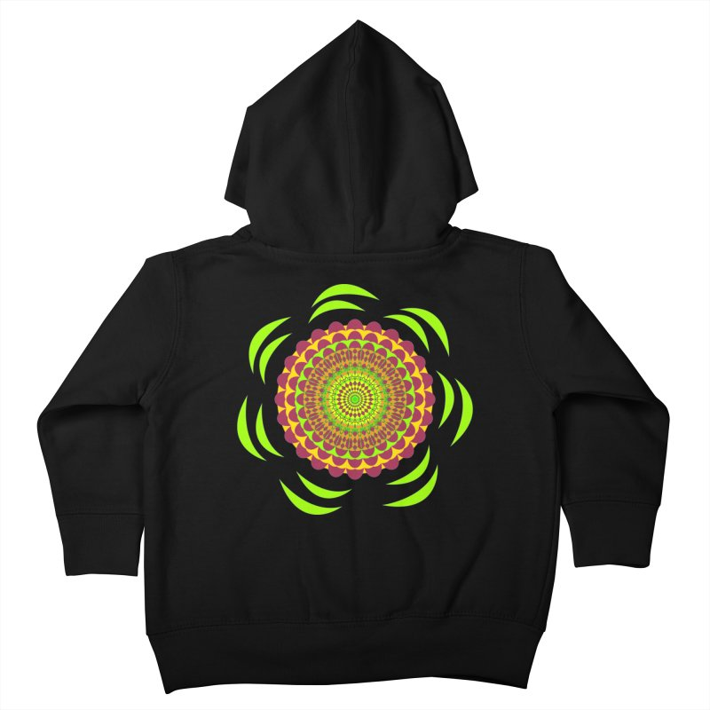 Psychedelic Flower Power Kids Toddler Zip-Up Hoody by jandeangelis's Artist Shop