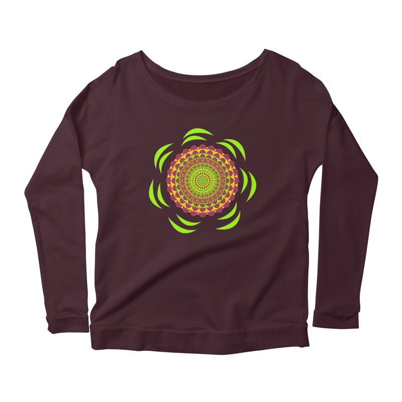 Psychedelic Flower Power Women's Scoop Neck Longsleeve T-Shirt by jandeangelis's Artist Shop
