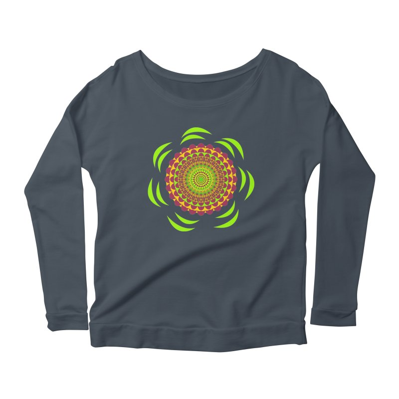 Psychedelic Flower Power Women's Longsleeve T-Shirt by jandeangelis's Artist Shop