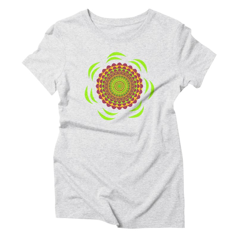 Psychedelic Flower Power Women's T-Shirt by jandeangelis's Artist Shop