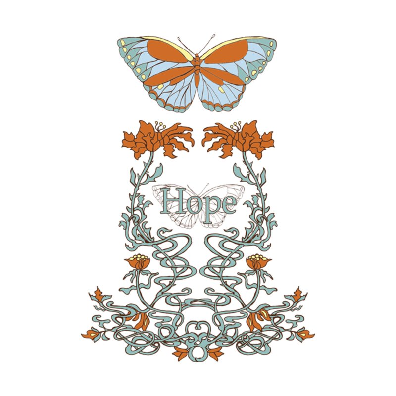Hope Butterfly  Men's Longsleeve T-Shirt by jandeangelis's Artist Shop