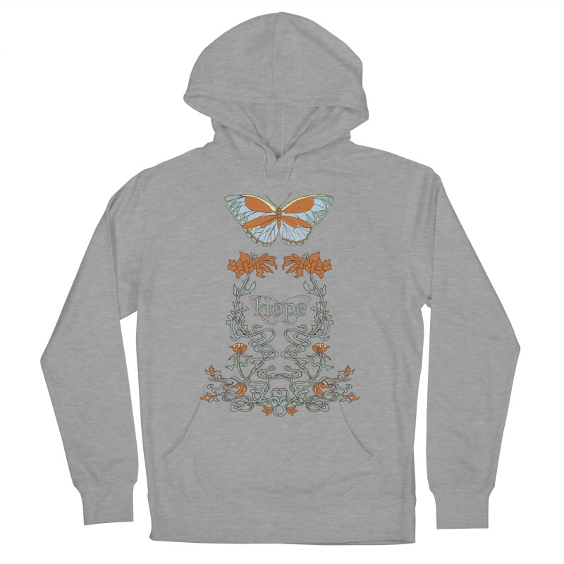 Hope Butterfly  Women's French Terry Pullover Hoody by jandeangelis's Artist Shop