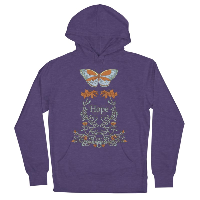 Hope Butterfly  Men's French Terry Pullover Hoody by jandeangelis's Artist Shop
