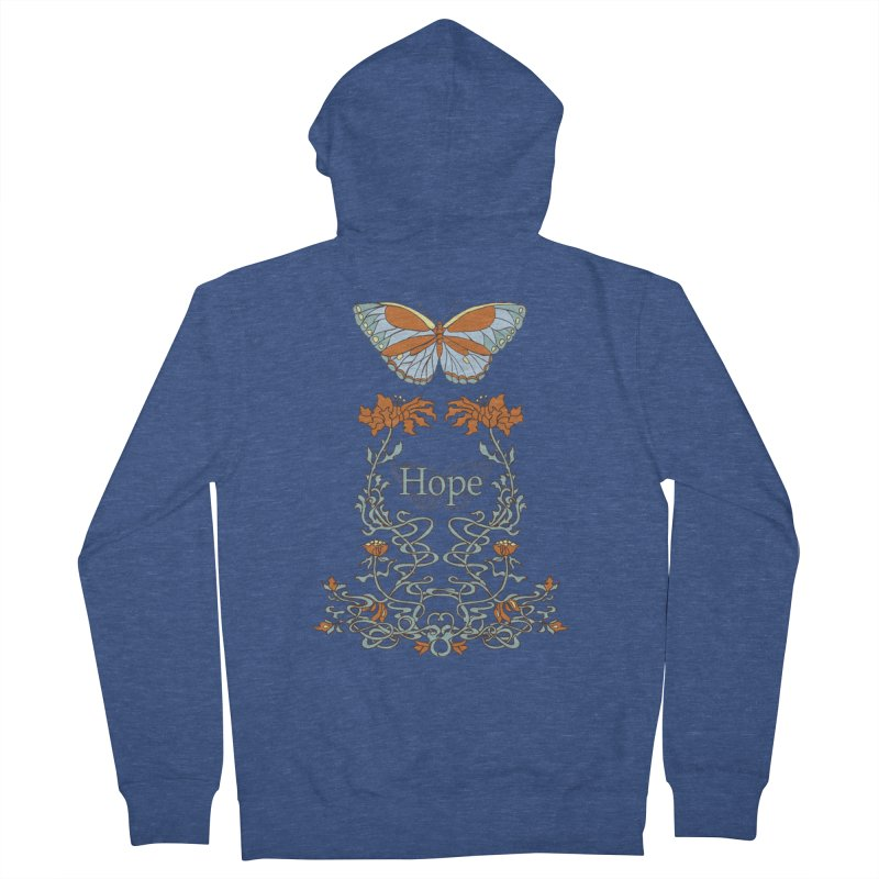 Hope Butterfly  Men's Zip-Up Hoody by jandeangelis's Artist Shop