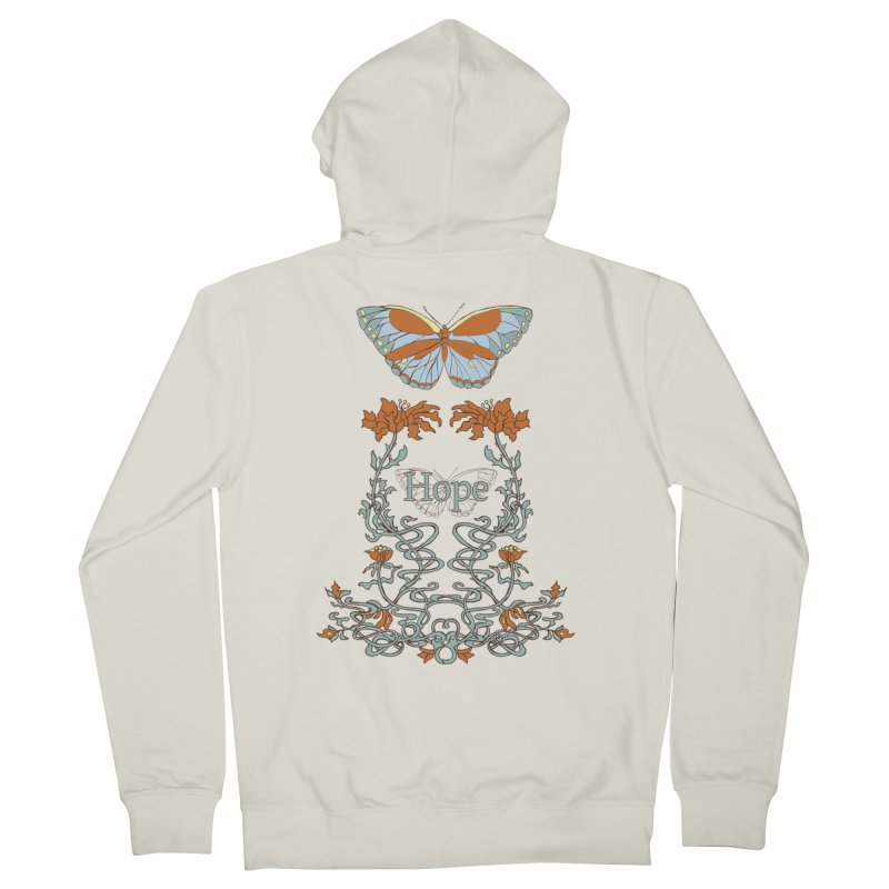 Hope Butterfly  Men's French Terry Zip-Up Hoody by jandeangelis's Artist Shop