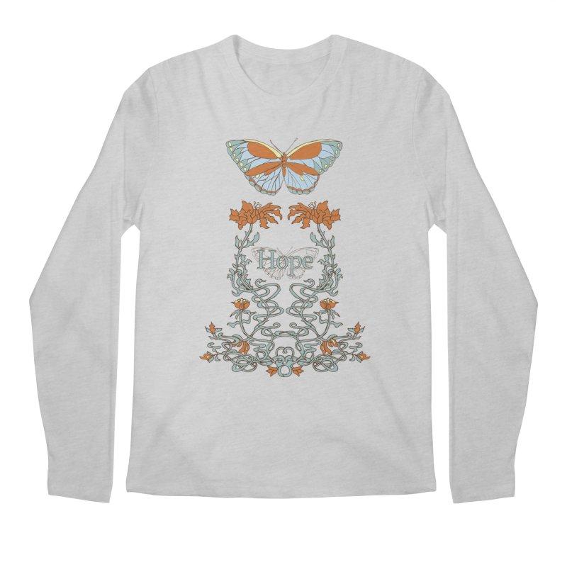 Hope Butterfly  Men's Regular Longsleeve T-Shirt by jandeangelis's Artist Shop
