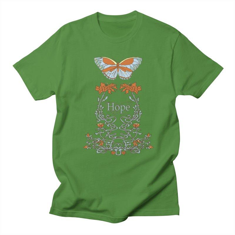 Hope Butterfly  Men's Regular T-Shirt by jandeangelis's Artist Shop