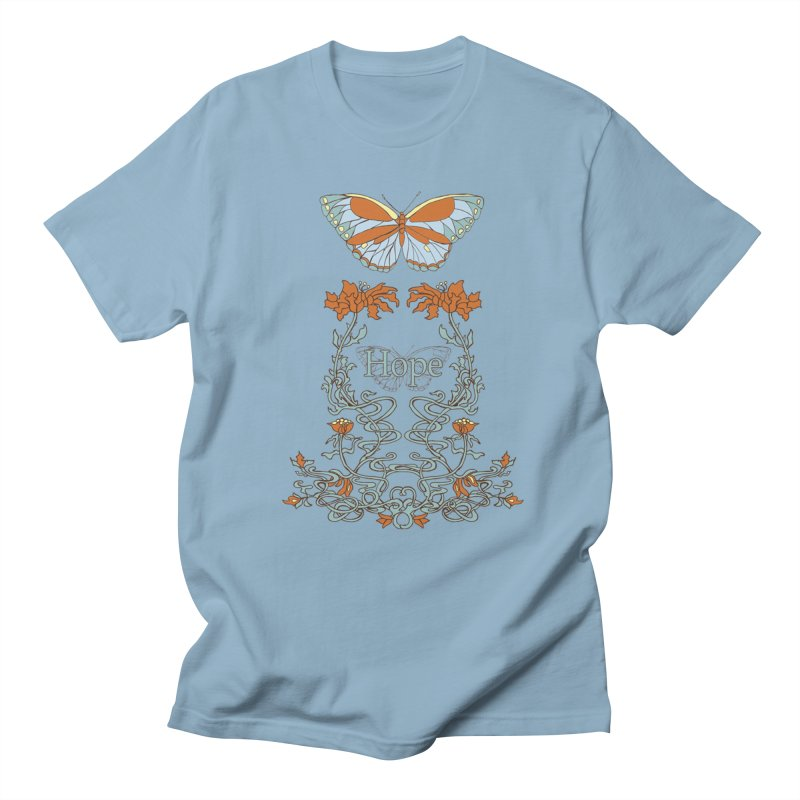 Hope Butterfly  Men's Regular T-Shirt by jandeangelis's Artist Shop