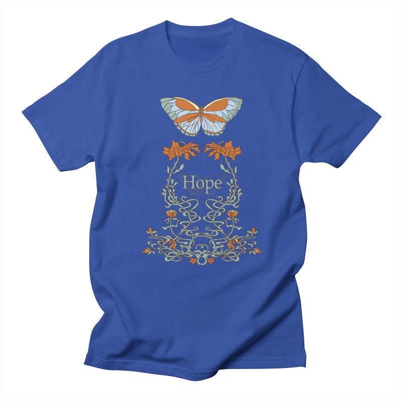 Hope Butterfly  Men's T-Shirt by jandeangelis's Artist Shop