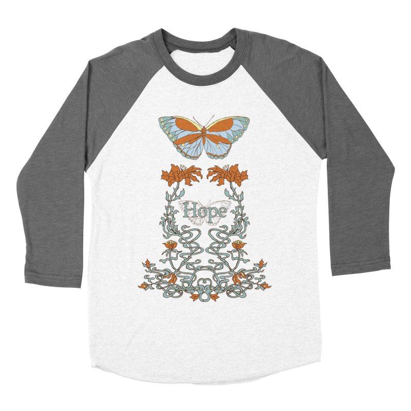 Hope Butterfly  Men's Baseball Triblend T-Shirt by jandeangelis's Artist Shop