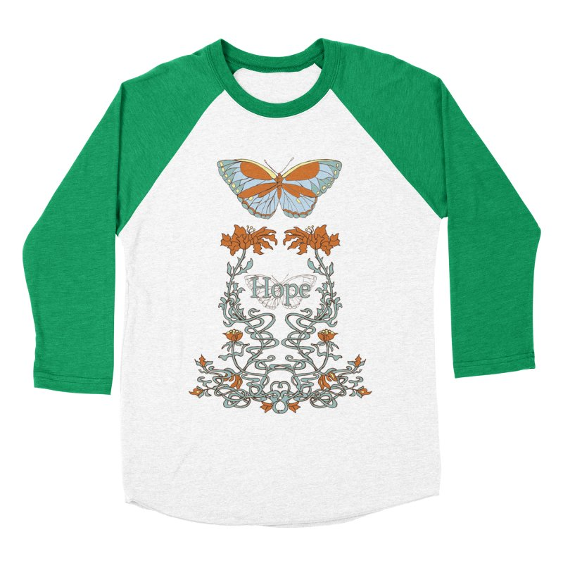 Hope Butterfly  Men's Baseball Triblend Longsleeve T-Shirt by jandeangelis's Artist Shop