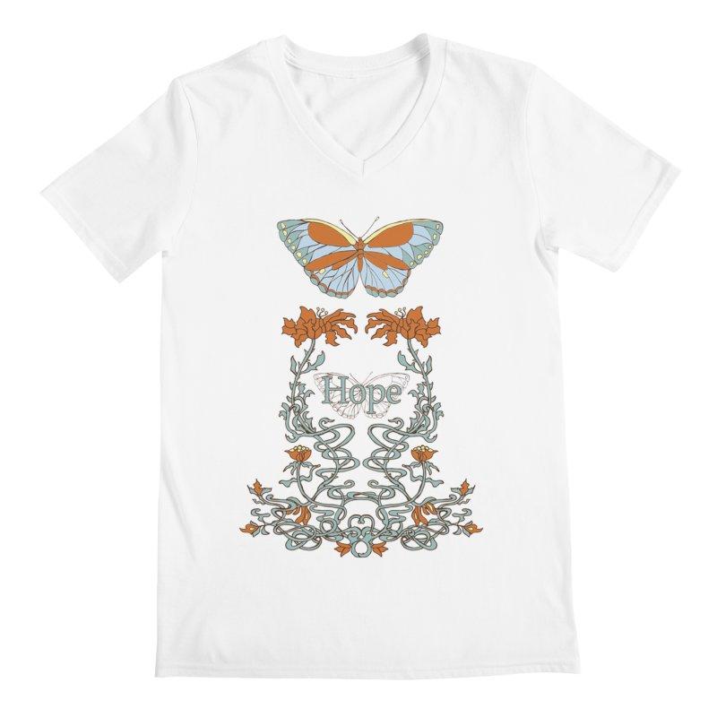 Hope Butterfly  Men's V-Neck by jandeangelis's Artist Shop
