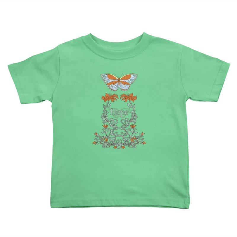 Hope Butterfly  Kids Toddler T-Shirt by jandeangelis's Artist Shop