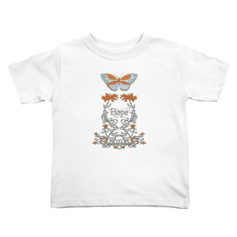 Hope Butterfly  Kids Toddler T-Shirt by jandeangelis's Artist Shop
