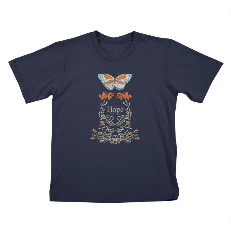 Hope Butterfly  Kids T-Shirt by jandeangelis's Artist Shop