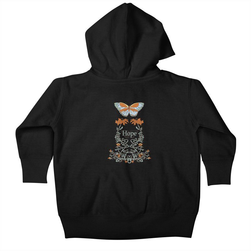 Hope Butterfly  Kids Baby Zip-Up Hoody by jandeangelis's Artist Shop