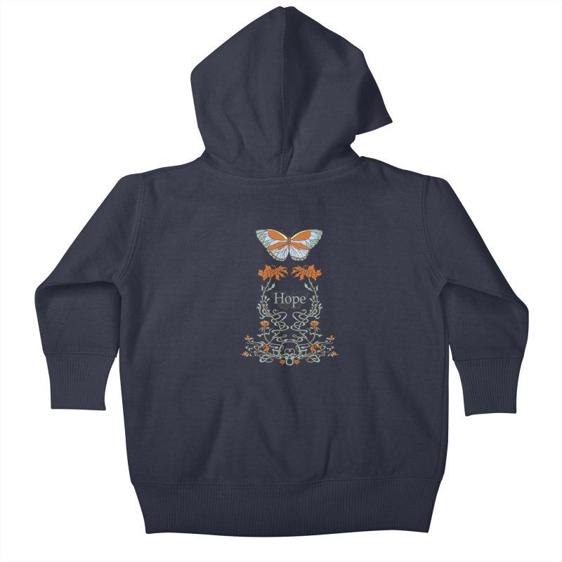 Hope Butterfly  Kids Baby Zip-Up Hoody by jandeangelis's Artist Shop