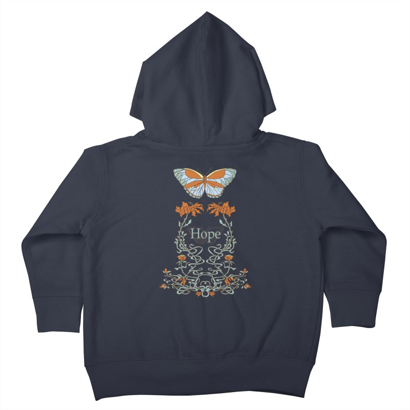 Hope Butterfly  Kids Toddler Zip-Up Hoody by jandeangelis's Artist Shop