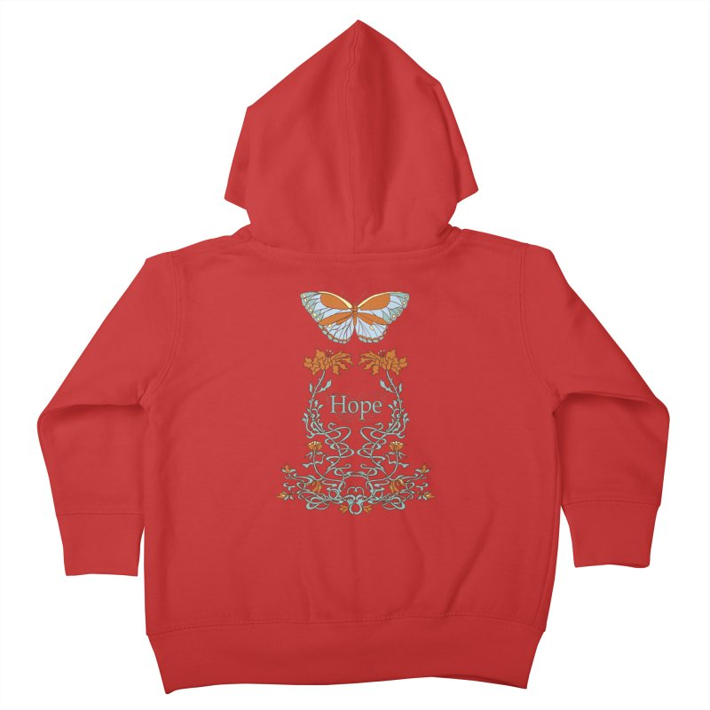Hope Butterfly  Kids Toddler Zip-Up Hoody by jandeangelis's Artist Shop
