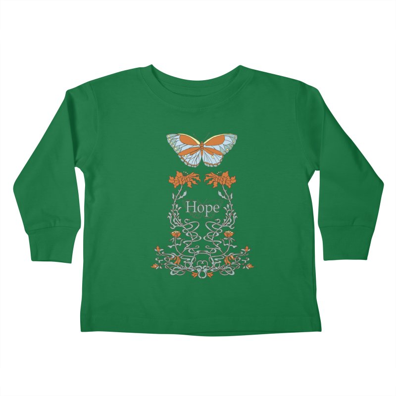 Hope Butterfly  Kids Toddler Longsleeve T-Shirt by jandeangelis's Artist Shop