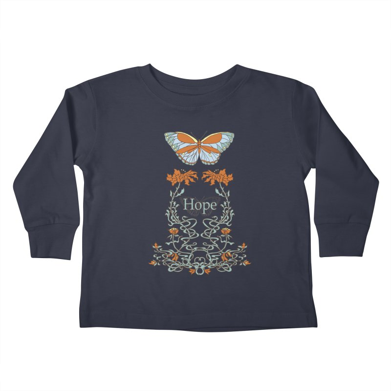 Hope Butterfly  Kids Toddler Longsleeve T-Shirt by jandeangelis's Artist Shop