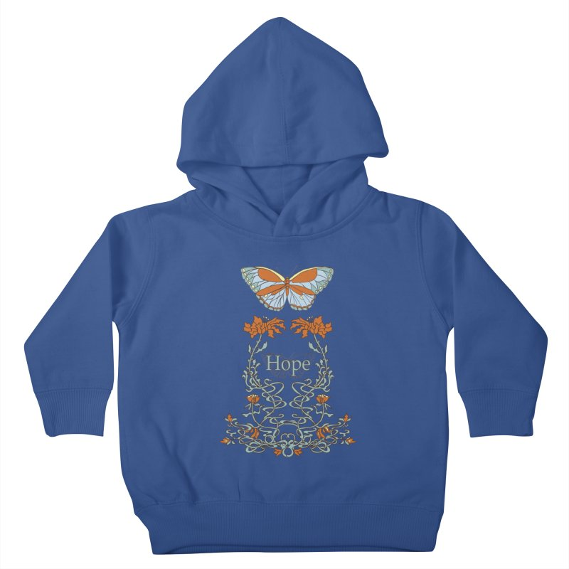 Hope Butterfly  Kids Toddler Pullover Hoody by jandeangelis's Artist Shop