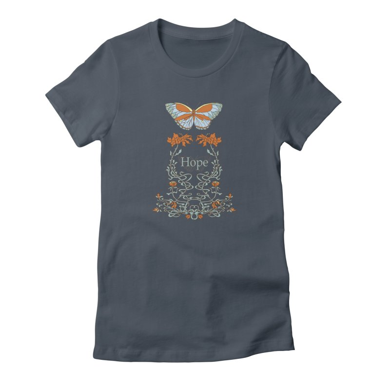 Hope Butterfly  Women's T-Shirt by jandeangelis's Artist Shop