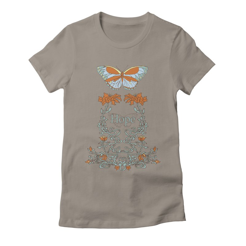 Hope Butterfly  Women's Fitted T-Shirt by jandeangelis's Artist Shop