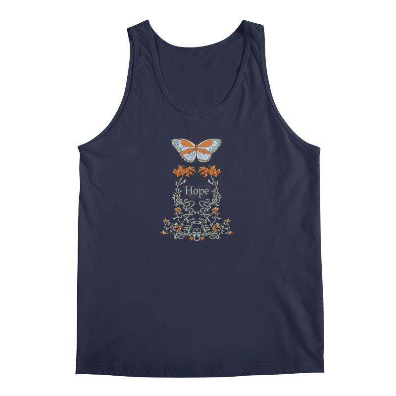 Hope Butterfly  Men's Tank by jandeangelis's Artist Shop
