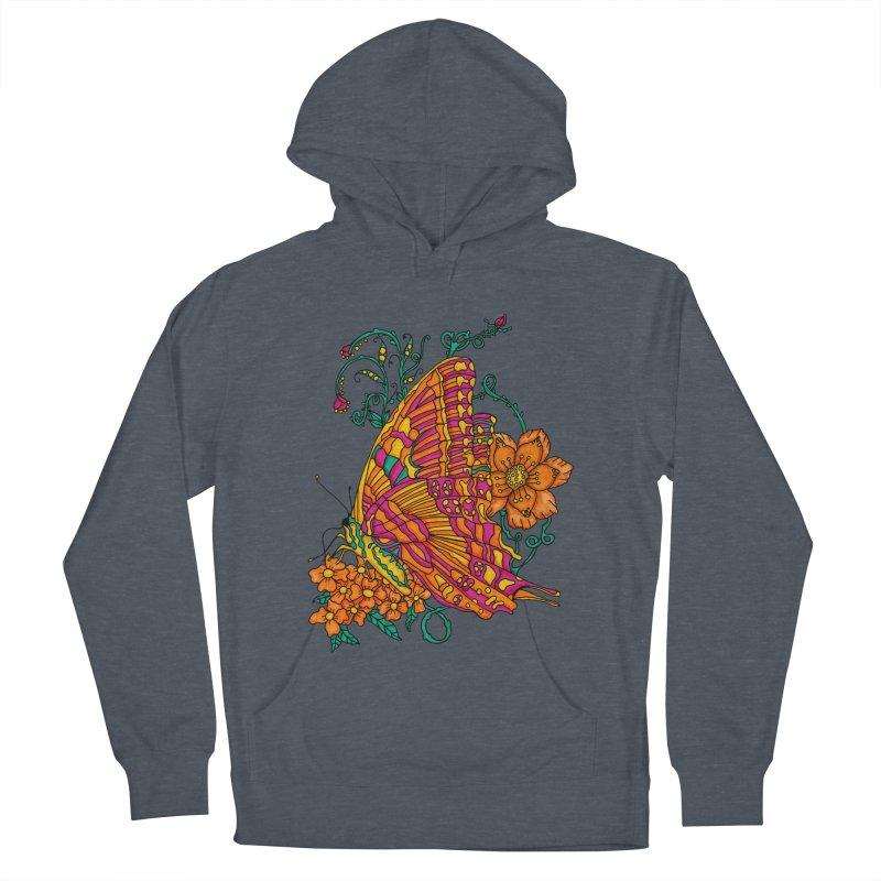 Tye Dye Butterfly Men's French Terry Pullover Hoody by jandeangelis's Artist Shop