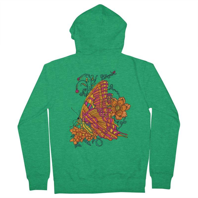 Tye Dye Butterfly Women's French Terry Zip-Up Hoody by jandeangelis's Artist Shop