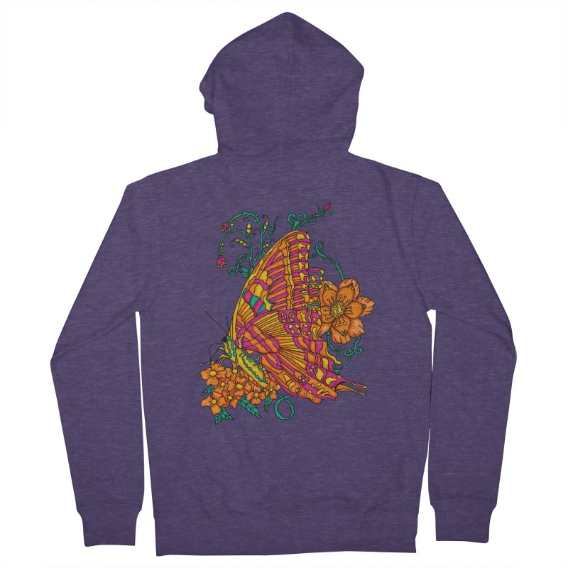 Tye Dye Butterfly Men's Zip-Up Hoody by jandeangelis's Artist Shop