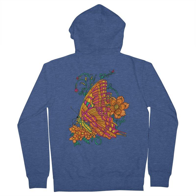 Tye Dye Butterfly Men's French Terry Zip-Up Hoody by jandeangelis's Artist Shop