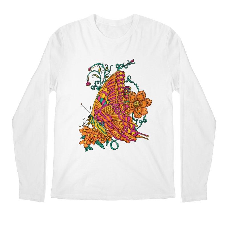 Tye Dye Butterfly Men's Regular Longsleeve T-Shirt by jandeangelis's Artist Shop