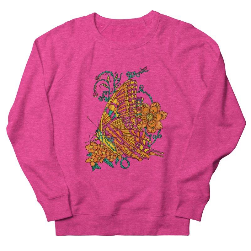 Tye Dye Butterfly Women's French Terry Sweatshirt by jandeangelis's Artist Shop