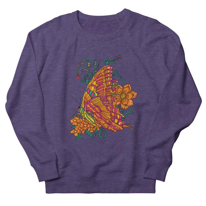 Tye Dye Butterfly Men's French Terry Sweatshirt by jandeangelis's Artist Shop