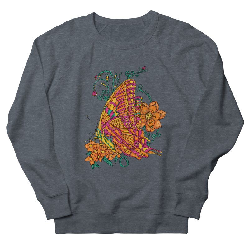 Tye Dye Butterfly Men's French Terry Sweatshirt by jandeangelis's Artist Shop