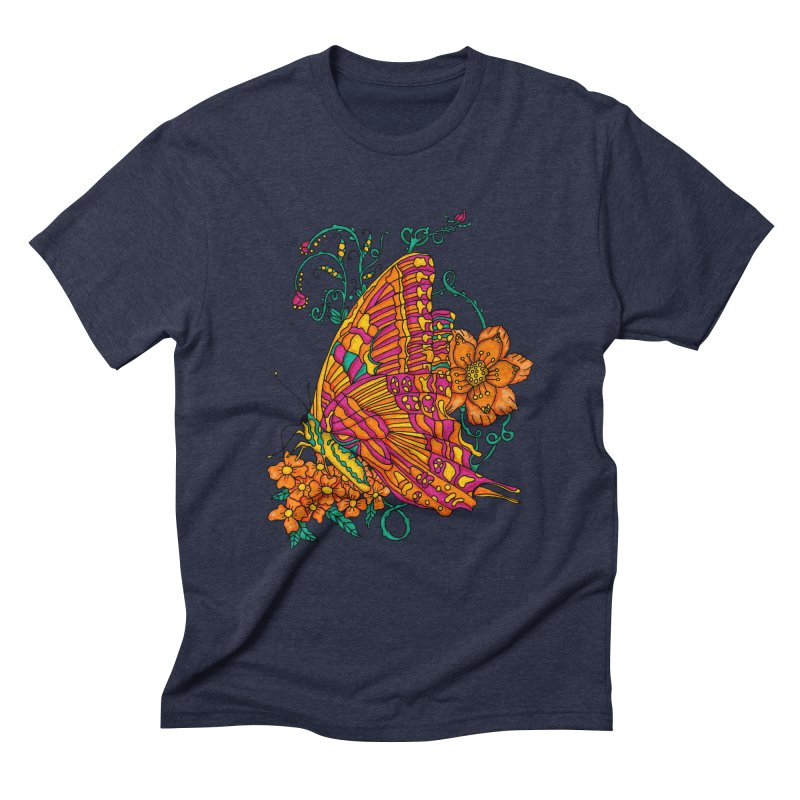 Tye Dye Butterfly Men's Triblend T-Shirt by jandeangelis's Artist Shop