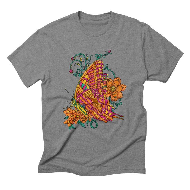 Tye Dye Butterfly Men's Triblend T-Shirt by jandeangelis's Artist Shop