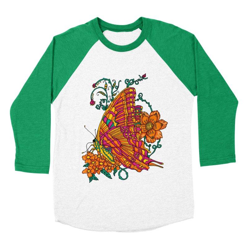 Tye Dye Butterfly Men's Baseball Triblend Longsleeve T-Shirt by jandeangelis's Artist Shop