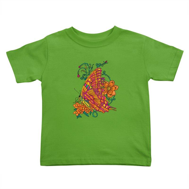 Tye Dye Butterfly Kids Toddler T-Shirt by jandeangelis's Artist Shop