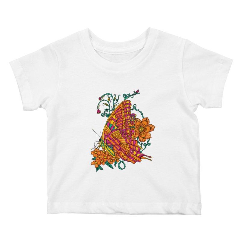 Tye Dye Butterfly Kids Baby T-Shirt by jandeangelis's Artist Shop