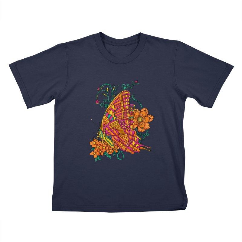 Tye Dye Butterfly Kids T-Shirt by jandeangelis's Artist Shop